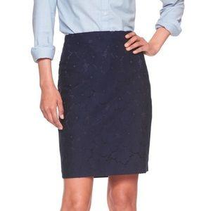 {Banana Republic} Navy Lace Skirt